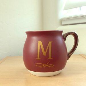 """M"" Monogram Mug"